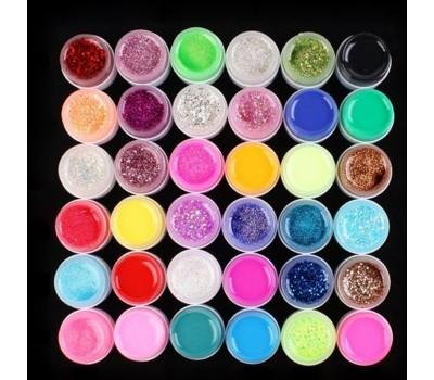 Цветни гелове 36 цвята  х 8 гр