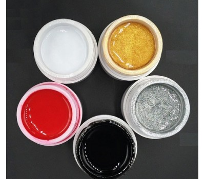 Цветен UV/Led гел  Pretty за рисуване - 5гр - Изберете цвят