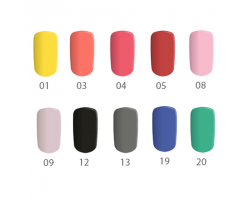 Комплект Matt - 10 бр. цветни матови гелове 5 гр.
