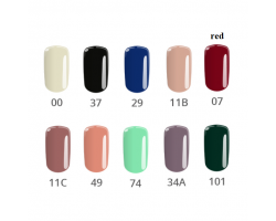 Комплект Color - 10 бр. цветни гелове наситени цветове 5 гр.