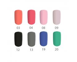 Комплект  Мат - 4 бр. цветни гелове матови цветове 5 гр. в кутийка