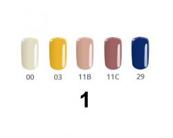 Комплект  Натурал - 5 бр. цветни гелове натурални цветове 5 гр.