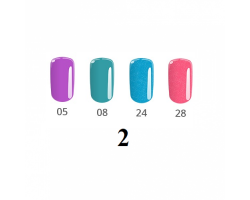 Комплект  Неон - 4 бр. цветни гелове неонови цветове 5 гр.