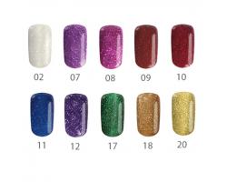 Пиксел - цветни гелове брокатени цветове 5 гр.