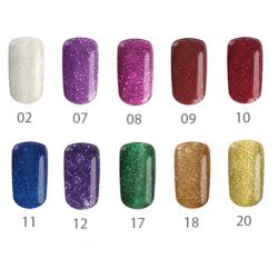 Комплект  Лас Вегас - 5 бр. цветни гелове брокатени цветове 5 гр.