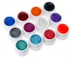 Цветни гелове 12 х 8 гр Перлени