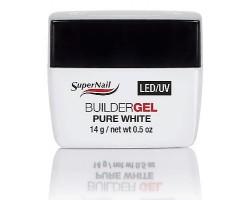 Super Nail - LED/UV гел - ярко бял - 14 гр